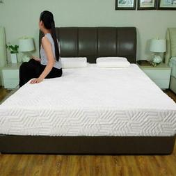 "Hot 10"" Full Size 3-Layer COOL Medium-Firm Memory Foam Mattr"