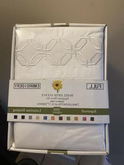 1000 Thread Count Egyptian Cotton Sheet Set Full Size Supers