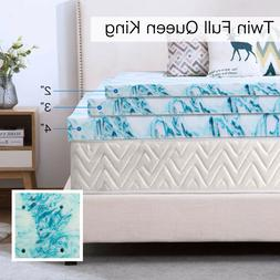 2, 3, 4 inch Soft Plush Blue Swirl Lavender Mattress Topper