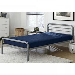 6Inch Quilted Mattress Twin Size Navy Comfortable Soft Blue