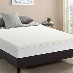 "Best Price Mattress 2.5"" Memory Foam Mattress Topper with wi"