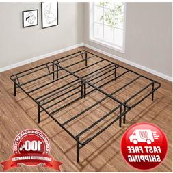 Twin Size Platform Bed Frame Roll-Away Fold-able Steel Light
