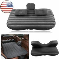 Inflatable Outdoor Travel Car Mattress Air Bed Back Seat Sle