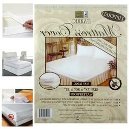 King Size Fabric Zippered Mattress Cover Waterproof Bed Bug