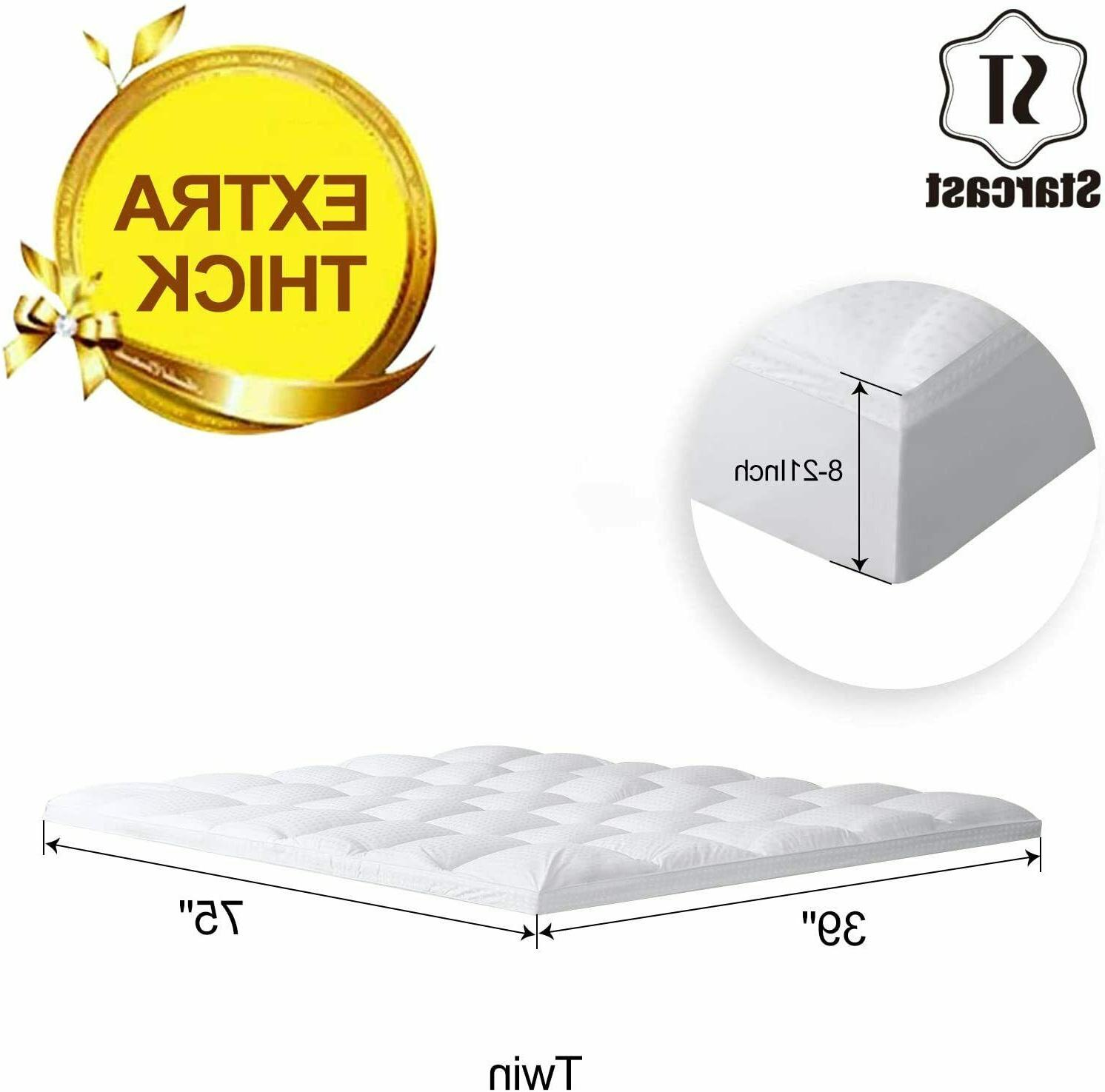 Extra Thick Mattress Cooling Pocket Breathable