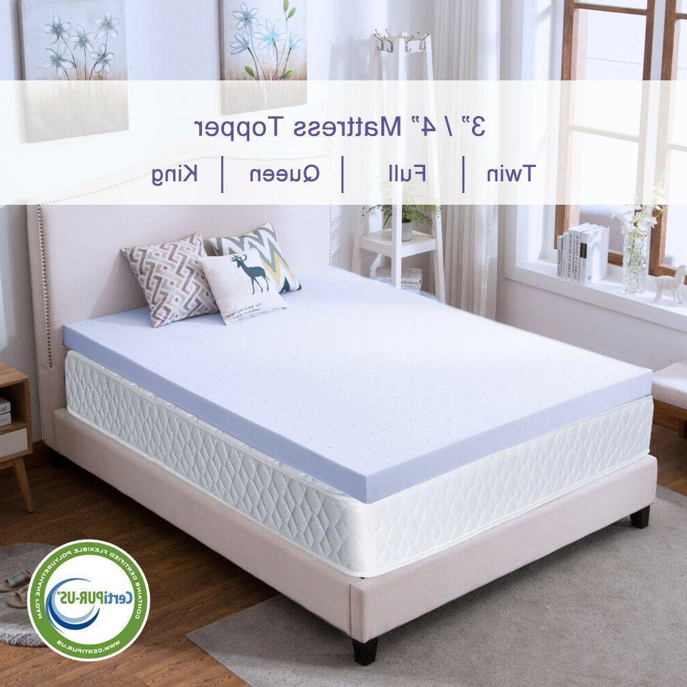 Mattress Topper 4'' Memory Ventilated Queen