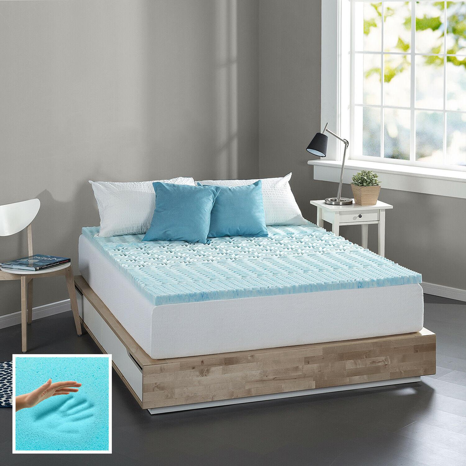 Spa Gel Memory Mattress Topper, King