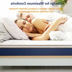 BedStory Queen Spring Foam Mattress 10 inch Latex Layer Bed