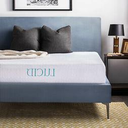 "New LUCID 10"" Inch Gel Memory Foam Comfortable Mattress Medi"