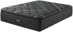 New King Simmons Beautyrest Black C-Class Plush Pillow Top M