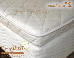 NEW TWIN Tally-O Talalay Mattress Pad with Quilted Organic C