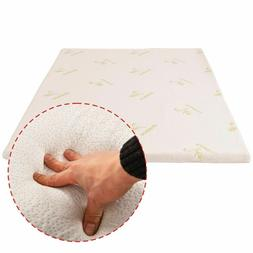 New3'' Queen Size Memory Foam Bamboo Cover Mattress Pad Bed