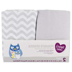 Playard Sheet Set of 2, fits 25.5in x 39in, 100% Cotton with