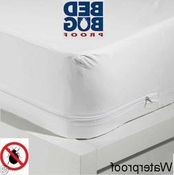Better Home Zippered Fabric Mattress Cover, Protects Against
