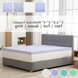 Topper-Twin Full Queen King Comfort Gel Memory Foam Mattress