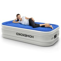 Twin Size Elevated Air Mattress With Built-in Electric Pump