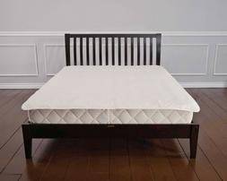 Washable Quilted Organic Cotton Mattress Pad