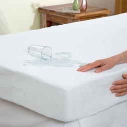 Terry Cotton Mattress Protector Waterproof Vinyl Free Fitted