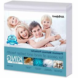 Waterproof Mattress Protector King Size - Airexpect 100% Org