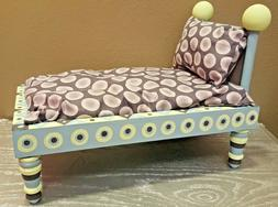 """Wood Baby Doll Bed 16"""" w/ Pillow Mattress Bedding American G"""